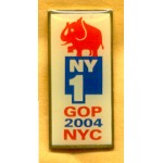 G.W. Bush 18D - NY1 GOP 2004 NYC Lapel Pin