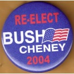 GW Bush 1P - Re-Elect Bush Cheney 2004 Campaign Button