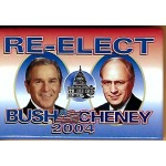 GW Bush 1X - Re-Elect Bush Cheney 2004 Campaign Button