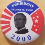 G. W. Bush 1Z- President George W. Bush 2000 Campaign Button