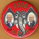 G.W. Bush 27G - 2000 Bush Cheney GOP Campaign Button