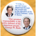 G.W. Bush 39B  - 2004 John Kerry George Bush Campaign Button