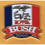GW Bush 39F - Iowa Bush 2000 Lapel Pin
