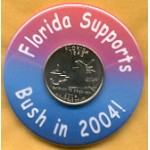 G.W. Bush 43A - Florida Supports Bush in 2004!  Campaign Button