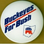GW Bush 51D - Buckeyes For Bush Campaign Button
