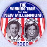 G.W. Bush 5H - President George Bush Christine Whitman Vice President Campaign Button