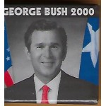 G.W. Bush 7J - George  Bush 2000 Campaign Button