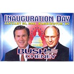 G.W. Bush 3F - Inauguration Day January 20, 2001 Washington , D.C. Bush Cheney Campaign Button