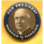 Harding 1D - For President Warren G. Harding Campaign Button