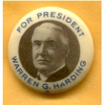 Harding 5C - For President Warren G. Harding Campaign Button
