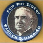 Harding 7A - For President Warren G. Harding Campaign Button