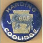 Harding 8A - Harding Coolidge GOP Campaign Button