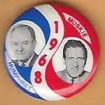 HHH 1L - Humphrey Muskie 1968 Campaign Button