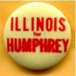 HHH 4C - Illinois for Humphrey Campaign Button