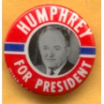 HHH 7D - Humphrey For President Campaign Button