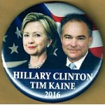 Hillary 8H - Hillary Clinton  Tim Kaine 2016 Campaign Button