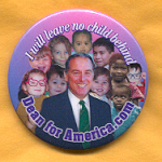 Hopeful 60A - Dean for America Campaign Button