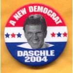 Hopeful 22B - A New Democrat Daschle 2004 Campaign Button