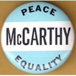 Hopeful 2L - Peace McCarthy Equality Campaign Button