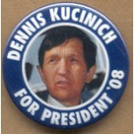 Hopeful 44D - Dennis Kucinich For President '08 Campaign Button