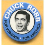 Hopeful 55C  - Chuck Robb For Virginia For America Campaign Button
