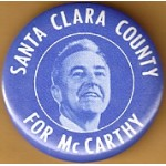 Hopeful 55M - Santa Clara County For McCarthy Campaign Button