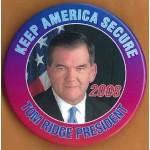 Hopeful 59B - Tom Ridge President 2008 Campaign Button