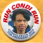 Hopeful 73C - Condolezza Rice For President 2008 Campaign Button
