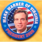 Hopeful 82B - Mark Warner of Virginia President 2008 Campaign Button