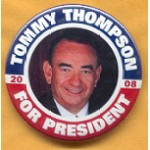 Hopeful 85D - Tommy Thompson For President 2008 Campaign Button