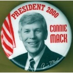 Hopeful 85J - President 2000 Connie Mack Campaign Button