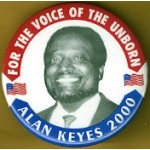 Hopeful 85M - For The Voice Of The Unborn Alan Keyes 2000 Campaign Button
