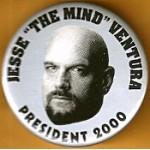 "Hopeful 89H - Jesse ""The Mind"" Ventura President 2000 Campaign Button"