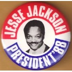 Hopeful 91E -  Jesse Jackson President '88 Campaign Button