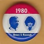 Hopeful 95D - 1980 Brown & Ronstadt Campaign Button