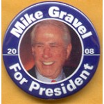 Hopeful 96A - Mike Gravel For President 2008 Campaign Button