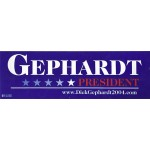 Hopeful 49M - Gephardt President (Bumper Sticker)