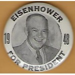IKE 4J - Eisenhower For President 1948 Campaign Button