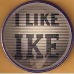 """IKE 12H - I Like Ike """"Flasher"""" Campaign Button"""