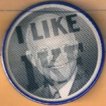 "IKE 12H - I Like Ike ""Flasher"" Campaign Button"