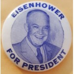 IKE 4L - Eisenhower For President Campaign Button