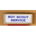LBJ 2M - Boy Scout Service 45th Inaugural Lyndon B. Johnson Hubert H. Humphrey January 20th 1965 Pin with Ribbon