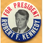 Kennedy RFK 7M - For President Robert F. Kennedy Campaign Button