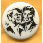 Kennedy RFK 16E - Robert F Kennedy & John F Kennedy Campaign Button
