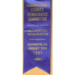 Kennedy JFK 50G - John F. Kennedy 35th President Cumberland County Democratic Committee January 20th 1961  Campaign Button