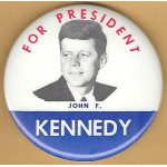 Kennedy JFK 27J - For President John F. Kennedy Campaign Button