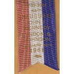 Kennedy JFK 31P - Inaugural Committee John F. Kennedy Lyndon B. Johnson  January 20th 1961 Medal with Ribbon