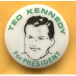Kennedy EMK 4H - Ted Kennedy For President Campaign Button