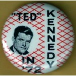 """Kennedy EMK 44D - """"Ted"""" Kennedy In '72 Campaign Button"""