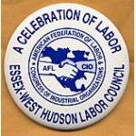 Labor 5A - Essex-West Hudson Labor Council Pinback Button